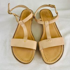 Elizabeth and James Tan Leather Sandals Sz 10B
